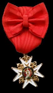 Médaille de chevalier de l'ordre royal et militaire de Saint-Louis