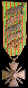 Croix de Guerre 1914-1918_avec 5 palmes et 1 étoile